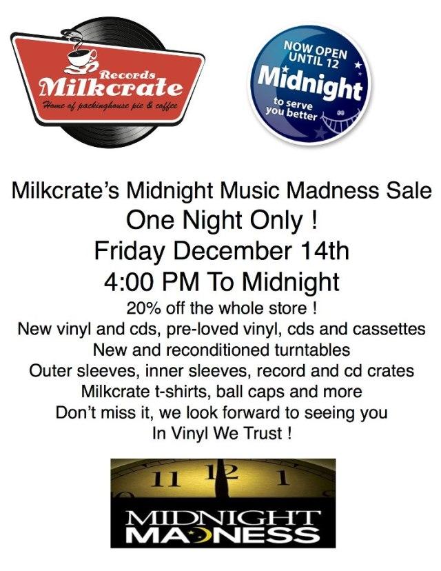 Milkcrate Midnight Music Madness