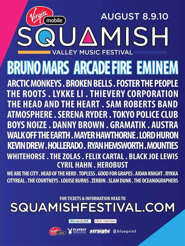 Bc music fests 2014 squamish valley music festival lineup announced in kelowna are anxious to see the sasquatch festival lineup as its just a 6 hour drive south of here well theyll be announcing their lineup on feb malvernweather Choice Image